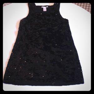 Alice & Olivia Black Sequin Dress